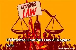 Efektivitas Omnibus Law di Negara Lain